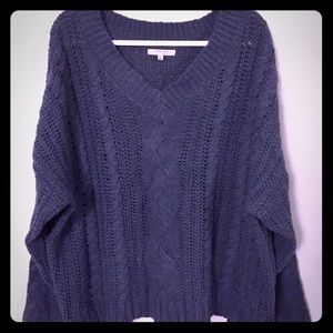 Favlux Oversized V-Neck Sweater